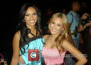 Kiely Williams and Adrienne Bailon Mercedes-Benz Fashion Week 2008 at Smashbox Studios - Voom - Front Row Culver City, California...