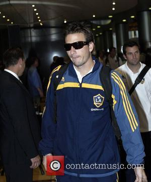 The LA Galaxy Football team are greeted by fans when arriving at the Star City Casino, where they will be...