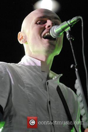 Billy Corgan of Smashing Pumpkins performing live at the KROQ LA Invasion at the Home Depot Centre Los Angeles, California...