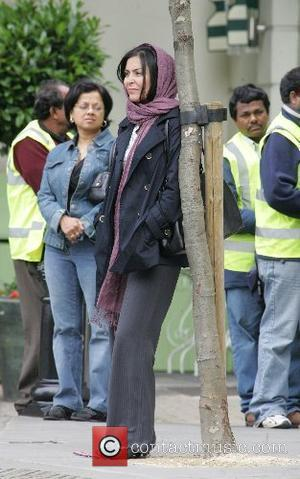 Laila Rouass on the set of the new drama