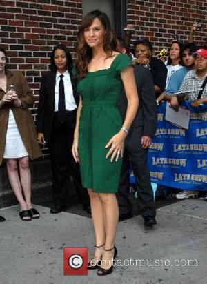 Jennifer Garner and David Letterman