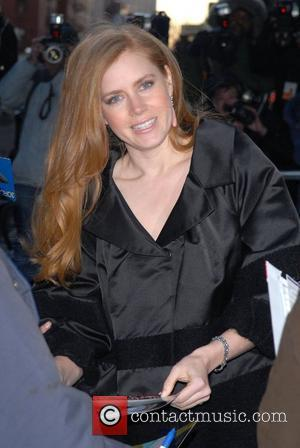Amy Adams at the Ed Sullivan Theatre after appearing on 'The Late Show with David Letterman' New York City, USA...