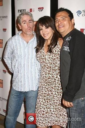 Carlos Alazraqui, Jill-Michele Melean and Carlos Mencia 2007 Latino Laugh Festival Finale, Hosted by Carlos Mencia held at the Kodak...