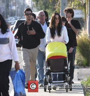 Lauren Sanchez Whitesell out with her new baby daughter Los Angeles, California - 16.02.08