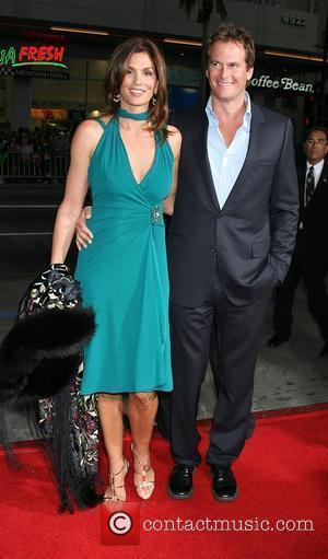 Rande Gerber and Cindy Crawford Attending the 'Leatherheads' Premiere held at the Grauman's Chinese theatre - Arrivals Los Angeles, California...