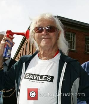 Jimmy Saville  launches the Leeds 10k race at the Leeds Millenium Square Leeds, England - 13.05.07