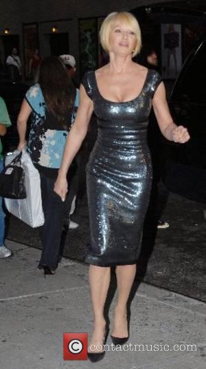 Ellen Barkin outside Ed Sullivan Theatre for the 'Late Show With David Letterman' New York City, USA - 04.06.07