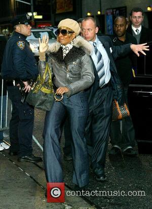 Mary J Blige and David Letterman