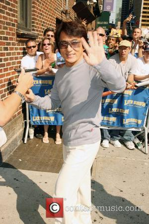 Jackie Chan Celebrities outside Ed Sullivan Theatre for the 'Late Show With David Letterman' New York City, USA - 02.08.07