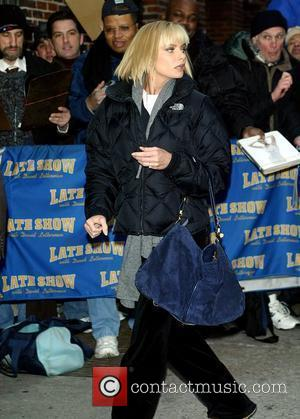 Jaime Pressly and David Letterman
