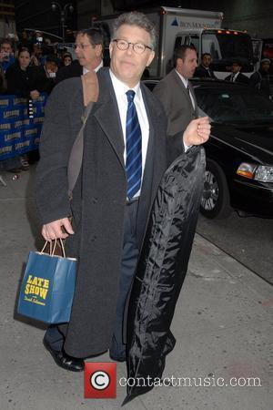 Al Franken outside Ed Sullivan Theatre for the 'Late Show With David Letterman' New York City, USA - 18.03.08