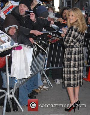 Sarah Michelle Gellar and David Letterman