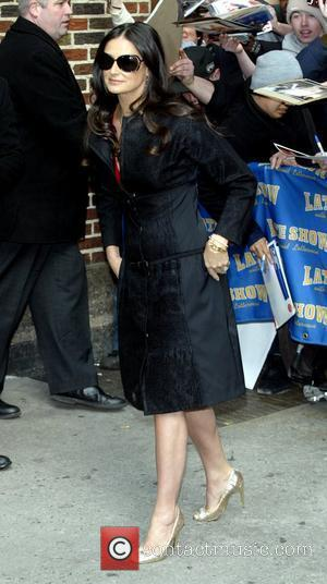 Demi Moore, David Letterman and Ed Sullivan Theatre