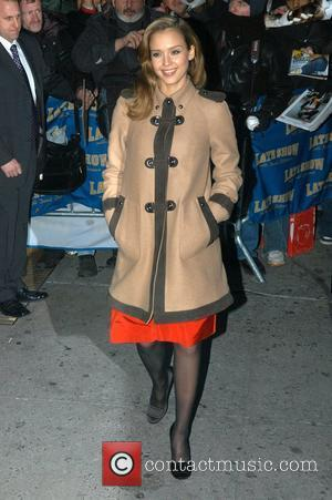Jessica Alba and David Letterman
