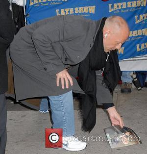 Bruce Willis, David Letterman, Ed Sullivan Theatre
