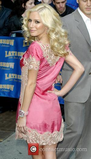 Heidi Montag and David Letterman