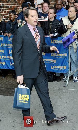 Matthew Broderick and David Letterman