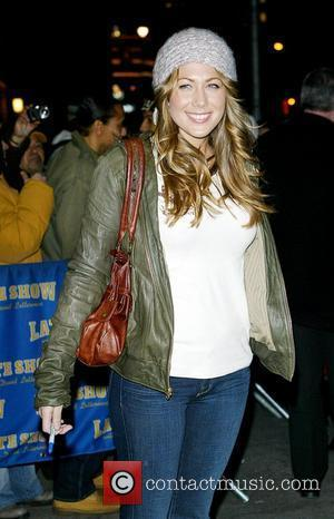 Colbie Caillat and David Letterman