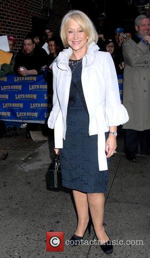 David Letterman, Helen Mirren, Ed Sullivan Theatre