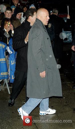 Bruce Willis and David Letterman