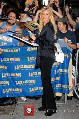 Faith Hill and David Letterman