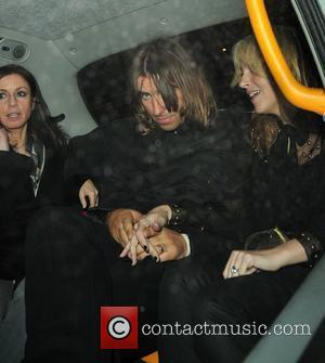 Liam Gallagher and Nicole Appleton  Leaving the Met bar London, England - 02.04.08