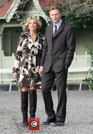 Natasha Richardson and Liam Neeson at Fitzwilliam Square where they promoted sales for 'The Chicago Spire', an iconic Irish developed...