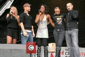 Michelle Heaton, Kevin Simm, Keli Young, Jessica Taylor, Tony Lundon  Liberty X perform their last ever concert together before...