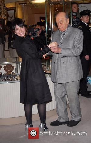 Mohamed Al-Fayed and Lily Allen