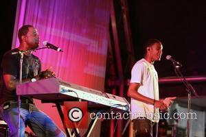 Brian McKnight, left, with son, Brian McKnight Jr, performing a Mother's Day Concert at The Queen's Park Oval Port Of...