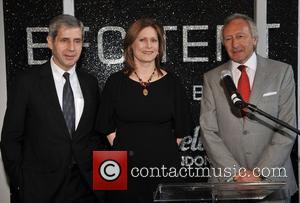 Stuart Rose, Sarah Brown and The New Head Of The British Fashion Council Harold Tillman