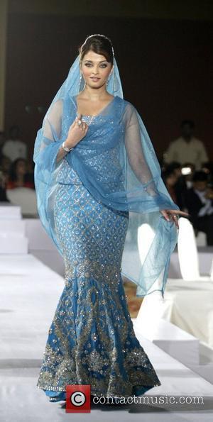 Bollywood actress Aishwarya Rai Bachchan wearing a  Tarun Tahiliani creation  Longines Bridal Watch Collection Launch  New Delhi,...