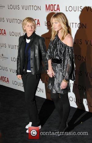 Ellen De Generes & Portia de Rossi Takashi Murakami honors Louis Vuitton artistic Director, Marc Jacobs at a Gala Celebrating...
