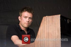 Damon Albarn The Good, The Bad and the Queen performing at the 'Love Music Hate Racism Carnival' held in Victoria...