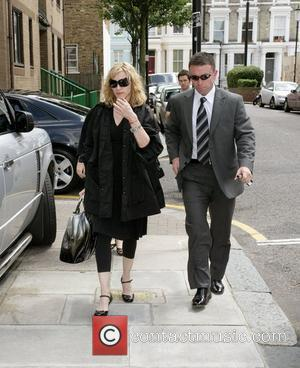 Madonna arriving at a London recording studio where she is currently working on new material as well as a collaboration...