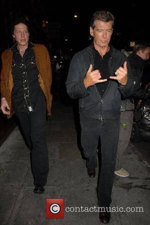 Pierce Brosnan and Chris Brosnan leaving Mango restaurant London, England - 07.06.07