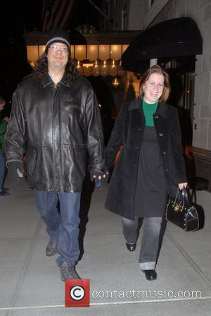 Penn Jillette, Emily Zolten out and about in Manhattan New York City, USA - 15.01.08