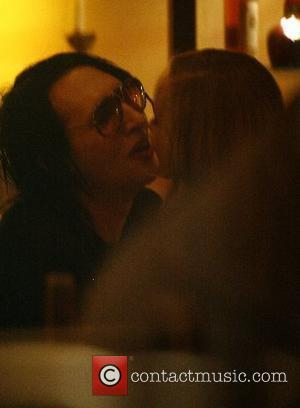 Marilyn Manson with his girlfriend Even Rachel Wood at