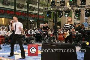 Jesse Carmichael, James Valentine, Adam Levine, Mickey Madden, Matt Flynn Grammy-winning soul-influenced rock band Maroon 5 performing at 'The Today...