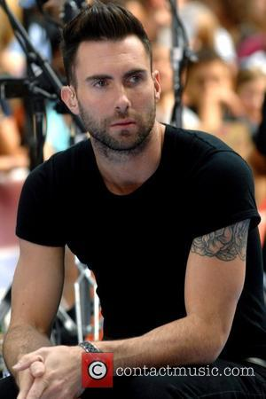 Adam Levine Maroon 5 performing live on NBC's 'The Today Show Toyota Concert Series' at the Rockefeller Plaza New York...