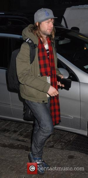 James Valentine of Maroon 5 arriving back at his Hotel New York City, USA - 23.02.08