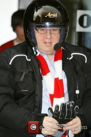 Matt Lucas leaving Radio One to promote the new Little Britain game ' The only game in the village.'...