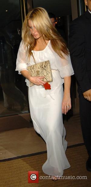 Davinia Taylor leaving the Mayfair Hotel London, England - 16.10.07