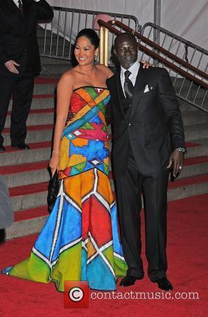 Djimon Hounsou and Kimora Lee Simmons