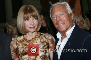 Anna Wintour and Giorgio Armani