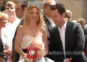 Michelle Pfeiffer, Paul Rudd and Johnny Grant Michelle Pfeiffer receives the 2,345th Star on the Hollywood Walk of Fame. Hollywood,...