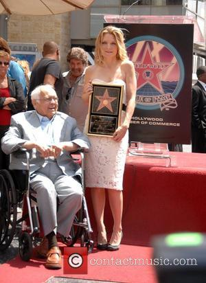 Michelle Pfeiffer and Johnny Grant Michelle Pfeiffer receives the 2,345th Star on the Hollywood Walk of Fame. Hollywood, California -...