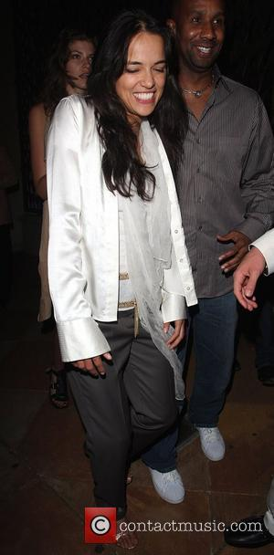 Michelle Rodriguez Leaving Villa Lounge Hollywood, California - 28.04.08