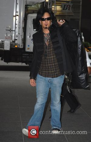 Nikki Sixx outside Fox Studios for an appearance on 'The Morning Show with Mike and Juliet' New York City, USA...