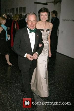 Michael Bloomberg and Diana Taylor Arriving at The Museum of modern art's 39th annual garden party New York City, USA...